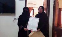 تكريم الأخت الحافظة عائشة معرباني في دار القرآن الكريم – الفضيلة