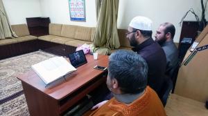 دار القرآن تجيز الشيخ محمد خشان الحلبي (عبر سكايب) بقراءة عاصم