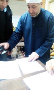 مجلس قرّاء الشام: قراءة كتاب (شرح قصيدة أبي مزاحم الخاقاني التي قالها في القراء وحسن الأداء) في دار القرآن الكريم – بيروت-003