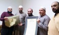 إجازة بالقراءات العشر الكبرى من طريق الطيبة وأُخرى برواية حفص في دار القرآن الكريم