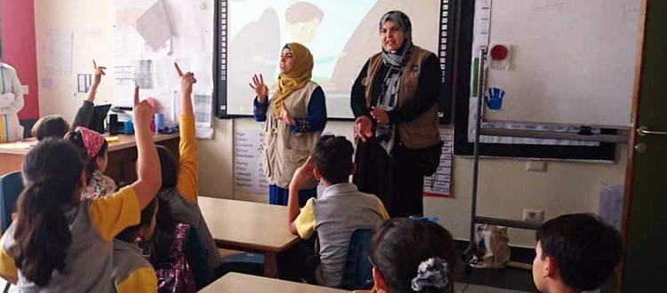 مؤسسة نماء في مدرسة الحياة الدولية - عرمون