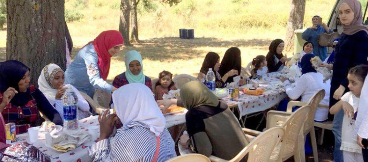 رحلة ترفيهية للمهتديات في المنتدى للتعريف بالإسلام إلى غابة الشبانية
