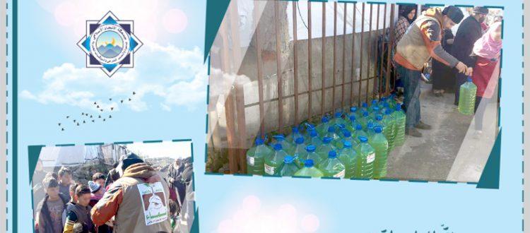مؤسسة نماء توزّع 100 تنكة مازوت على العائلات في البيرة - عكار