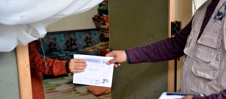 مؤسسة نماء: تقديم مساعدات مالية لعشرات العائلات ضمن حملة