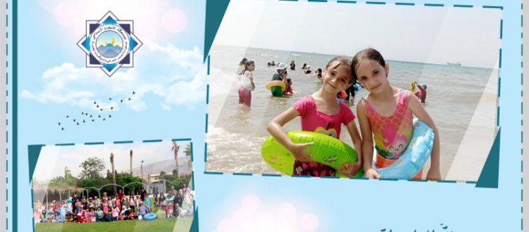 شاطئ النخيل.. الرحلة الختامية لدورة نادي الفرقان الصيفي للفتيات في طرابلس