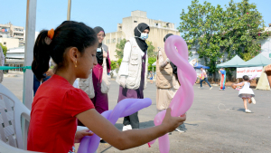 يوم ترفيهي ودعم نفسي للأطفال بعد تفجير بيروت في منطقة الكارنتينا